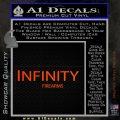 Infinity Firearms Decal Sticker Orange Emblem 120x120