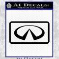 Infinity Motors Logo Emblem Decal Sticker Black Vinyl 120x120