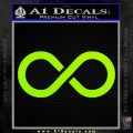 Infinity Symbol Decal Sticker Lime Green Vinyl 120x120