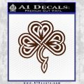 Irish Shamrock Clover Celtic D1 Decal Sticker BROWN Vinyl 120x120