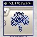 Irish Shamrock Clover Celtic D1 Decal Sticker Blue Vinyl 120x120