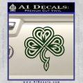Irish Shamrock Clover Celtic D1 Decal Sticker Dark Green Vinyl 120x120