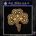 Irish Shamrock Clover Celtic D1 Decal Sticker Gold Vinyl 120x120