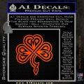 Irish Shamrock Clover Celtic D1 Decal Sticker Orange Emblem 120x120
