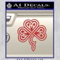 Irish Shamrock Clover Celtic D1 Decal Sticker Red 120x120