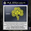 Irish Shamrock Clover Celtic D1 Decal Sticker Yellow Laptop 120x120