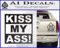 Kiss My Ass RT Decal Sticker Carbon FIber Black Vinyl 120x97
