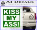 Kiss My Ass RT Decal Sticker Green Vinyl Logo 120x97