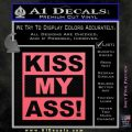 Kiss My Ass RT Decal Sticker Pink Emblem 120x120