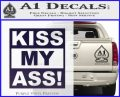 Kiss My Ass RT Decal Sticker PurpleEmblem Logo 120x97