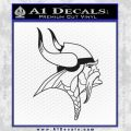 Minnesota Vikings Decal Sticker Black Vinyl 120x120