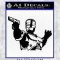 Robo Cop Profile Robocop Decal Sticker Black Vinyl 120x120