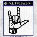 Rocker Hand Devil Fist Decal Sticker Black Vinyl 120x120