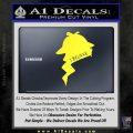 Sherlock Holmes I Believe In D1 Decal Sticker Yellow Vinyl Black 120x120
