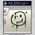 Sherlock Holmes Smilie Face Decal Sticker Dark Green Vinyl 120x120