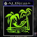 Vacation Decal Sticker Lime Green Vinyl 120x120