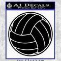Volleyball0 2 Decal Sticker Black Vinyl 120x120