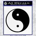 Yin Yang Classic Decal Sticker Black Vinyl 120x120