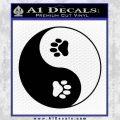 Yin Yang Paws Decal Sticker Black Vinyl 120x120