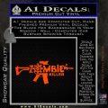 Zombie Killer AR 15 Decal Sticker Orange Emblem 120x120