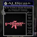 Zombie Killer AR 15 Decal Sticker Pink Emblem 120x120