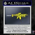 Zombie Killer AR 15 Decal Sticker Yellow Laptop 120x120