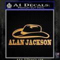 Alan Jackson Decal Sticker Cowboy Hat Metallic Gold Vinyl Vinyl 120x120