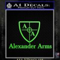 Alexander Arms Full Decal Sticker Lime Green Vinyl 120x120