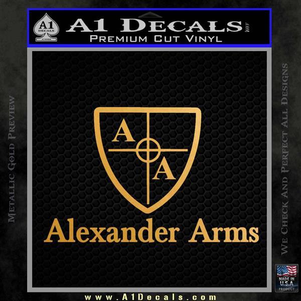 Alexander Arms Full Decal Sticker Metallic Gold Vinyl Vinyl