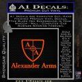 Alexander Arms Full Decal Sticker Orange Vinyl Emblem 120x120