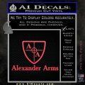 Alexander Arms Full Decal Sticker Pink Vinyl Emblem 120x120