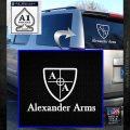 Alexander Arms Full Decal Sticker White Emblem 120x120