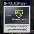 Alexander Arms Full Decal Sticker Yelllow Vinyl 120x120