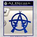 Anarchy M 16 Rifles Decal Sticker Blue Vinyl 120x120