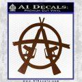 Anarchy M 16 Rifles Decal Sticker Brown Vinyl 120x120