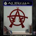 Anarchy M 16 Rifles Decal Sticker Dark Red Vinyl 120x120