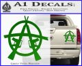Anarchy M 16 Rifles Decal Sticker Green Vinyl 120x97
