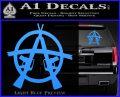 Anarchy M 16 Rifles Decal Sticker Light Blue Vinyl 120x97