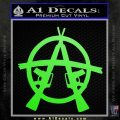 Anarchy M 16 Rifles Decal Sticker Lime Green Vinyl 120x120