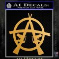 Anarchy M 16 Rifles Decal Sticker Metallic Gold Vinyl Vinyl 120x120