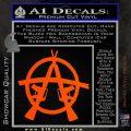 Anarchy M 16 Rifles Decal Sticker Orange Vinyl Emblem 120x120