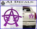 Anarchy M 16 Rifles Decal Sticker Purple Vinyl 120x97