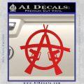 Anarchy M 16 Rifles Decal Sticker Red Vinyl 120x120