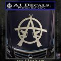 Anarchy M 16 Rifles Decal Sticker Silver Vinyl 120x120