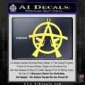 Anarchy M 16 Rifles Decal Sticker Yelllow Vinyl 120x120