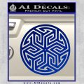 Ancient Celtic Protection Rune Decal Sticker Blue Vinyl 120x120