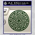 Ancient Celtic Protection Rune Decal Sticker Dark Green Vinyl 120x120