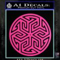 Ancient Celtic Protection Rune Decal Sticker Hot Pink Vinyl 120x120