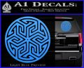Ancient Celtic Protection Rune Decal Sticker Light Blue Vinyl 120x97