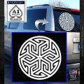 Ancient Celtic Protection Rune Decal Sticker White Emblem 120x120